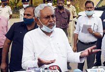 Bihar Chief Minister Nitish Kumar speak to media at Jai Prakash Narayan airport in August 2021   ANI
