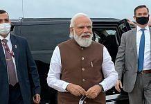 Prime Minister Narendra Modi on his arrival in the US   Photo: ANI