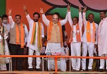 Amit Shah during a public meeting on 'Liberation Day' in Telangana's Hyderabad on 17 September 2021 | PTI