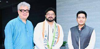 Trinmool MP Derek O'Brien with Babul Supriyo and party's national general secretary Abhishek Banerjee on 18 September 2021 | Trinamool Congress | Twitter