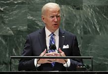 US President Joe Biden addresses the 76th Session of the U.N. General Assembly on 21 September 2021 at UN headquarters in New York City   Photo: Pool/Getty Images North America via Bloomberg