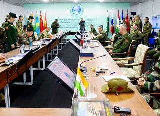 Chief of Defence Staff General Bipin Rawat attends the conference of the Chiefs of General Staff of the SCO member states in Russia's Orenburg, on 23 September 2021 | ANI photo