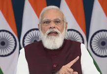 Delhi: Prime Minister Narendra Modi addresses at a function to mark the Lokarpan of Sardardham Bhavan and Bhoomi Pujan of Sardardham Phase - II Kanya Chhatralaya, through video conferencing, in New Delhi. (PTI Photo)