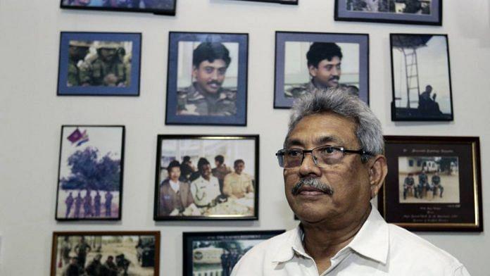 File photo of Gotabaya Rajapaksa, Sri Lanka's president, at his home in Colombo, Sri Lanka, in 2018 | Tharaka Basnayaka | Bloomberg