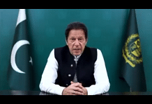 A screengrab of Imran Khan speaking at the UNGA. | Photo credit: Twitter/@VirkSh786