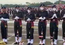 Indian soldiers performing a ritual. | Photo Credit: YouTube/Aayudh Defense screengrab