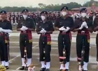 Indian soldiers performing a ritual.   Photo Credit: YouTube/Aayudh Defense screengrab