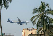 An aircraft operated by IndiGo prepares to land at Netaji Subhas Chandra Bose International Airport in Kolkata, India   Photographer: Arko Datto/Bloomberg