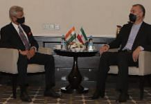 External Affairs Minister S Jaishankar meets Iranian counterpart in Dushanbe on 17 September 2021 | Twitter/@DrSJaishankar