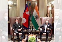 Jaishankar with new Nepali counterpart, Dr. Narayan Khadka in New York on 26 September 2021 | Twitter /@DrSJaishankar