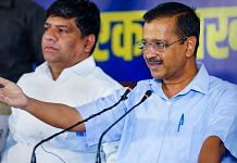 Delhi CM Arvind Kejriwal speaks during a press conference, ahead of the 2022 Uttarakhand Assembly Election in Nainital Sunday | PTI