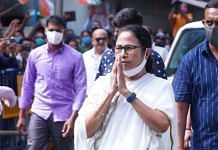Chief Minister Mamata Banerjee at Bhabanipur on the day she filed her nomination papers (10 September) | Photo: Twitter/@AITCofficial