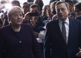 German Chancellor Angela Merkel with Italian Prime Minister Mario Draghi (file photo) | Bloomberg
