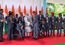 Prime Minister Narendra Modi meets Indian contingent of the 2020 Summer Paralympics, in New Delhi on 9 September 2021 | PTI