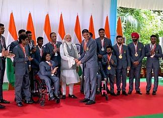 Prime Minister Narendra Modi meets Indian contingent of the 2020 Summer Paralympics, in New Delhi on 9 September 2021   PTI