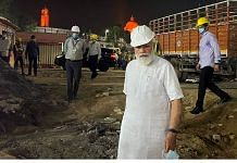 Prime Minister Narendra Modi inspects construction work of new Parliament building in New Delhi on 26 September 2021| PTI