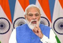 PM Narendra Modi addressing the Global Covid-19 Summit, via video conferencing, in Washington DC on 22 September 2021 | PTI