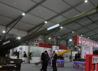 File image of the OFB pavilion at DefExpo | Representational image | Twitter/@SpokespersonMoD
