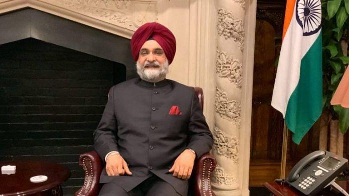 India's ambassador to US Taranjit Singh Sandhu | Twitter