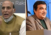 Defence Minister Rajnath Singh and Highways Minister Nitin Gadkari | ANI and Facebook