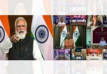 Prime Minister Narendra Modi speaks during inauguration of CIPET-Jaipur and foundation stone laying of four new medical colleges in Rajasthan, via video conferencing in New Delhi on 30 September 2021 |PTI