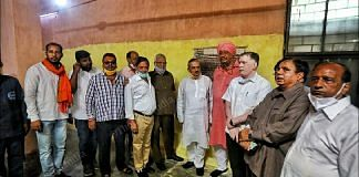 Delhi BJP leaders at the inauguration of the 3 CNG incinerators for cremations in Nigambodh Ghat, Friday morning | Photo: Praveen Jain/ThePrint