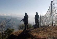 Representational Image of Indian Army soldiers patrolling the Line of Control in Poonch district, Jammu and Kashmir | File photo: ANI