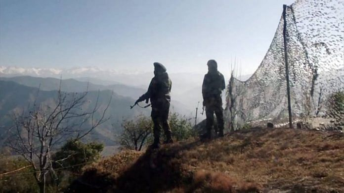 Representational Image of Indian Army soldiers patrolling the Line of Control in Poonch district, Jammu and Kashmir   File photo: ANI