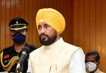 Congress leader Charanjit Singh Channi takes oath as Chief Minister of Punjab during the swearing-in ceremony, at Raj Bhawan in Chandigarh, on 20 September 2021 | PTI Photo
