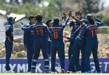 Indian women's team during their match against Australia in Mackay, on 26 September 2021