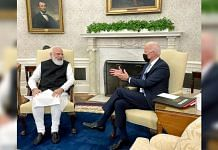 PM Narendra Modi and US President Joe Biden hold bilateral meeting at the Oval Office in the White House in Washington DC, on 24 September 2021 | ANI photo