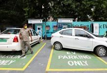An electric vehicle (EV) parked at a charging station in New Delhi | Representational photo: T. Narayan | Bloomberg