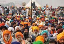 Farmers protesting at Singhu border | Representational image | Photo: Manisha Mondal | ThePrint