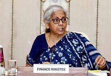 A file photo of Finance Minister Nirmala Sitharaman. | Photo: ANI
