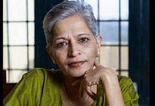 A file photo of murdered journalist Gauri Lankesh | Twitter | @gaurilankesh
