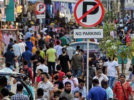 People at Karol Bagh Market in New Delhi | ANI File Photo