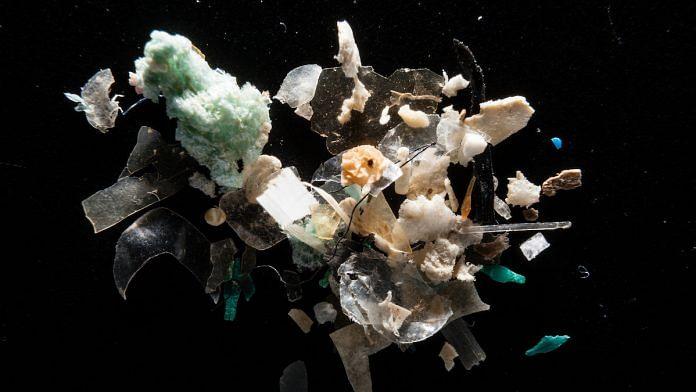 Microplastics in a river | Laboratory of Dr Lance Yonkos/Chesapeake Bay Program