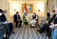 PM Narendra Modi holds a meeting with President and CEO of Qualcomm Cristiano R Amon in Washington DC, on 23 September 2021   ANI photo
