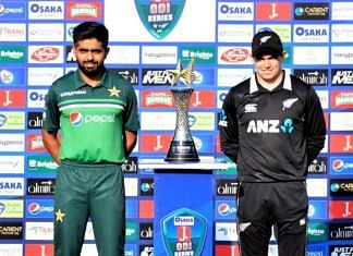 New Zealand pulled out of the ODI and T20 series against Pakistan shortly before the start of the first match on 17 September 2021   Twitter/@TheRealPCB