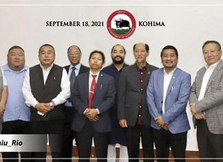 CM Nagaland announcing the nomenclature of the United Democratic Alliance | Twitter