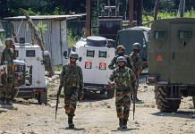 Security personnel during an encounter with militants at Sopore area of Baramulla district (file photo) | PTI