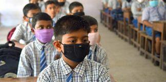 Representational Image | Students wearing masks in a classroom | Abhishek Saha | ANI