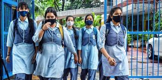 Students arrive for classes after the Delhi government allowed the reopening of schools, at Navyug School, Jor Bagh Colony, on 1 September 2021   Representational image   Photo: ANI