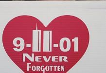 A sign at the site of the former World Trade Center in New York City, on 11 September 2006 | Photo: Spencer Platt/Getty Images/Pool via Bloomberg