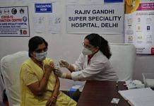 File photo of a person being vaccinated at a private hospital in Delhi   Photo: Suraj Singh Bisht   ThePrint
