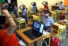 Representational image of school children returning to classrooms | Photo: ANI