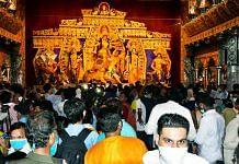Representational image of a Durga Puja pandal in Kolkata | Photo: ANI