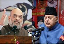 File photos of Amit Shah (left) and Farooq Abdullah