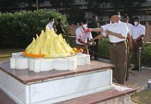 RSS chief Mohan Bhagwat at the organisation's headquarters in Nagpur | Twitter/@RSSorg