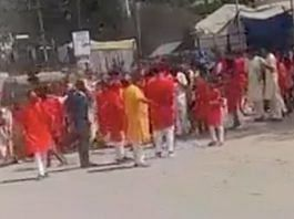 A still from the video of the incident circulating on social media   Twitter   @amitmalviya